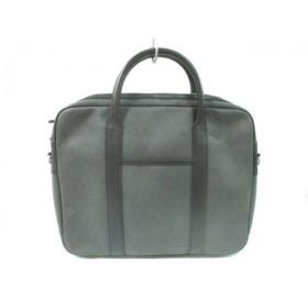 【中古】 ダンヒル dunhill/ALFREDDUNHILL ビジネスバッグ ダークグレー 黒 PVC(塩化ビニール) レザー