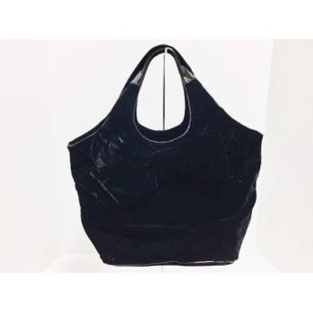 【中古】 ケイトスペード Kate spade ハンドバッグ 美品 PXRU3015 黒 リボン エナメル(レザー)