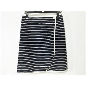 【中古】 ドレステリア DRESSTERIOR 巻きスカート サイズ36 S レディース ネイビー 白 ボーダー