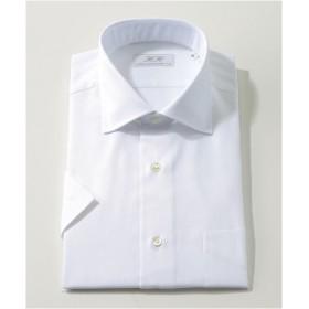 [シャツ]ダブルエイチ 半袖ドレスシャツ HH8SS-W-035 ホワイトピケ LL(42)