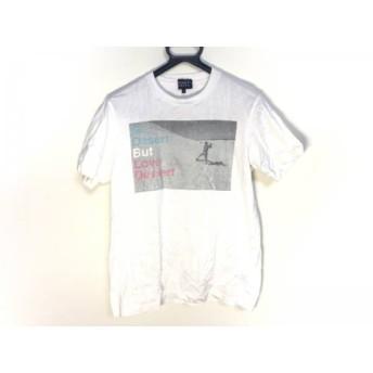【中古】 パーリーゲイツ PEARLY GATES 半袖Tシャツ サイズ4 XL メンズ 白 ライトグレー マルチ