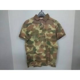 【中古】 ポロラルフローレン 半袖ポロシャツ サイズS メンズ カーキ ダークブラウン 迷彩柄