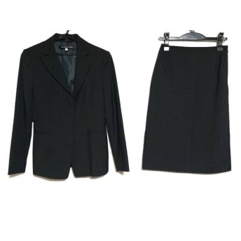 【中古】 ミッシェルクラン MICHELKLEIN スカートスーツ レディース 美品 黒 肩パッド