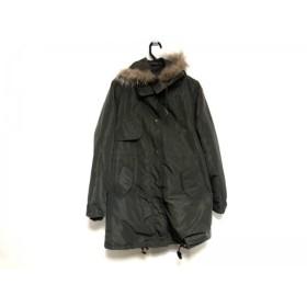 【中古】 ドゥクラッセ DoCLASSE コート サイズ7 S レディース カーキ 冬物/ファー