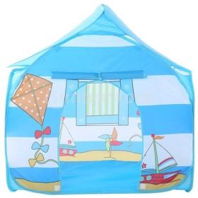Baoblaze 2色選ぶ ポータブル 子ども 遊びハウス 遊び場 子供 屋内屋外 ポップアップテント - ブルー