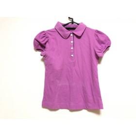 【中古】 シェロー chereaux 半袖ポロシャツ サイズ36 S レディース パープル