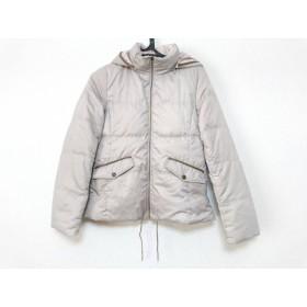 【中古】 クミキョク ダウンジャケット サイズ2 M レディース ピンク グレー リバーシブル/冬物