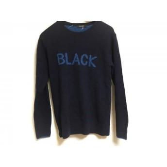 【中古】 バーバリーブラックレーベル 長袖セーター サイズ2 M メンズ ネイビー ブルー