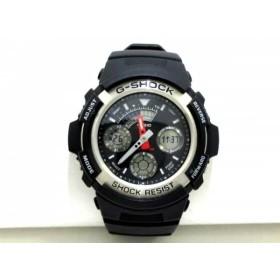 【中古】 カシオ CASIO 腕時計 G-SHOCK AW-590 メンズ 黒