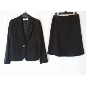【中古】 ナチュラルビューティー ベーシック スカートスーツ サイズM レディース 黒 ラメ