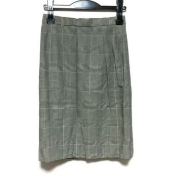【中古】 ダックス DAKS スカート サイズ63-90 レディース 黒 アイボリー チェック柄