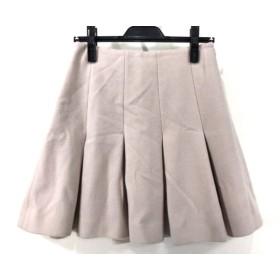 【中古】 エストネーション ESTNATION スカート サイズ38 M レディース ベージュ bis