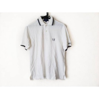 【中古】 パーリーゲイツ 半袖ポロシャツ サイズ1 S メンズ アイボリー ダークネイビー GOLF