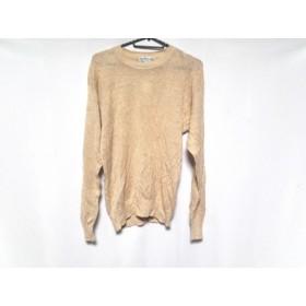 【中古】 バーバリーズ Burberry's 長袖セーター サイズMA メンズ ベージュ