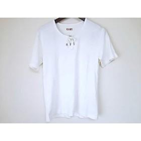 【中古】 ピンクハウス PINK HOUSE 半袖Tシャツ サイズM レディース 白 レース/リボン
