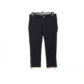 【中古】 バーバリーブルーレーベル Burberry Blue Label パンツ サイズ36 S レディース 黒 サイドジップ
