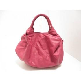 【中古】 ロエベ LOEWE ハンドバッグ 美品 ナッパアイレ ピンク ナッパレザー