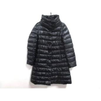 【中古】 ヘルノ HERNO ダウンコート サイズ44 L レディース 黒 冬物