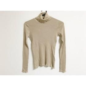 【中古】 トゥービーシック TO BE CHIC 長袖セーター サイズ2 M レディース ベージュ タートルネック