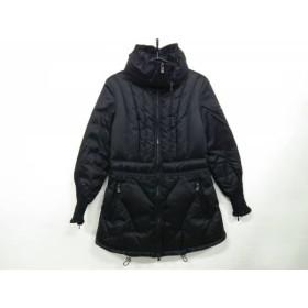 【中古】 タトラス ダウンコート サイズ3 L レディース 美品 アベリア LTL18A4145 黒 ジップアップ/冬物
