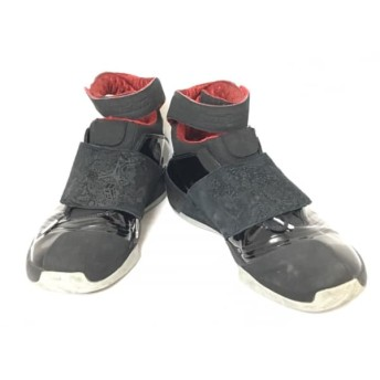 【中古】 ナイキ NIKE スニーカー 29 メンズ エアジョーダン20 310455-001 黒 エナメル(レザー) レザー
