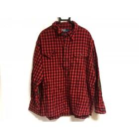 【中古】 ポロラルフローレン POLObyRalphLauren 長袖シャツ サイズXL メンズ 美品 レッド 黒 チェック柄