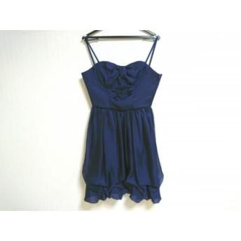 【中古】 ラデファンス La Defence ドレス サイズ9 M レディース ネイビー フリル