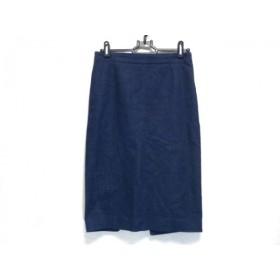 【中古】 ウィムガゼット whim gazette スカート サイズ36 S レディース ダークネイビー デニム