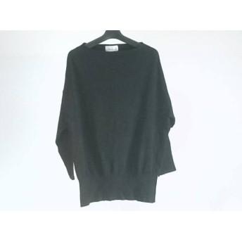 【中古】 ダブリュービー wb 七分袖セーター サイズ40 M レディース 黒