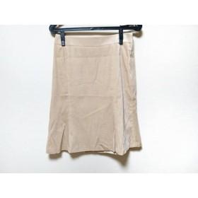 【中古】 ミッシェルクラン MICHELKLEIN スカート サイズ40 M レディース ベージュ