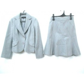 【中古】 フラジール FRAGILE スカートスーツ サイズ36 S レディース ライトグレイ