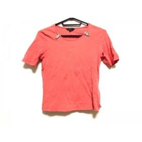 【中古】 ダックス DAKS 半袖Tシャツ サイズ38 L レディース 美品 オレンジ ベージュ マルチ