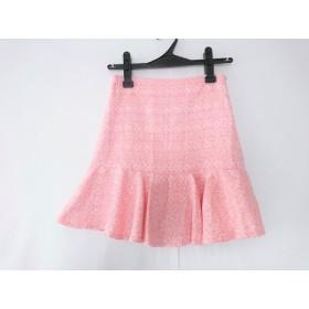 【中古】 エミリアウィズ Emiria Wiz スカート サイズS レディース ピンク アイボリー ツイード
