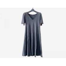 【中古】 フォクシー FOXEY ワンピース サイズ40 M レディース ふわさらドレス 28283 チャコールグレー