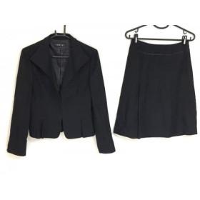 【中古】 インディビ INDIVI スカートスーツ サイズ40 M レディース 黒