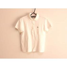 【中古】 ラコステ Lacoste 半袖ポロシャツ サイズ38 M レディース 白