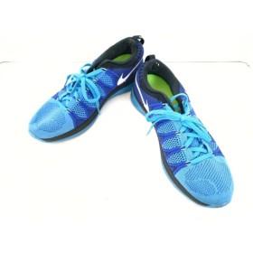 【中古】 ナイキ スニーカー 27.5 メンズ フライニットルナ2 620465-414 ブルー ライトブルー 化学繊維
