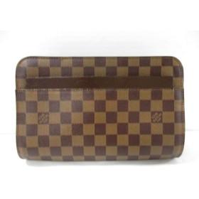 【中古】 ルイヴィトン LOUIS VUITTON セカンドバッグ ダミエ サンルイ N51993 エベヌ ダミエ・キャンバス