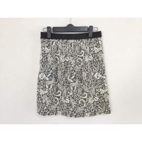 【中古】 ジャスグリッティー JUSGLITTY スカート サイズ2 M レディース ダークグレー 白 黒