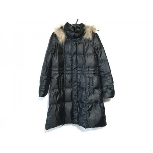 【中古】 ミッシェルクラン MICHELKLEIN ダウンコート サイズ38 M レディース 黒 冬物/ファー