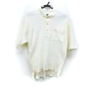 【中古】 バーバリーズ Burberry's 半袖ポロシャツ サイズMedium M メンズ アイボリー