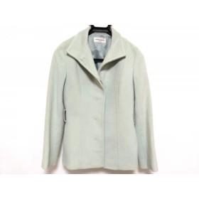 【中古】 クミキョク コート レディース ライトグリーン sis/冬物 アンゴラ羊毛ポリエステル