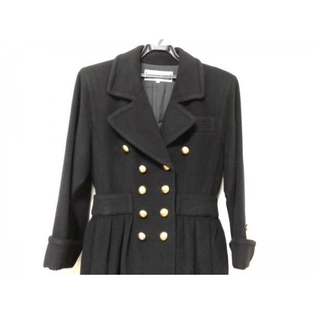 【中古】 イヴサンローラン YvesSaintLaurent コート サイズM レディース 黒 冬物/肩パッド