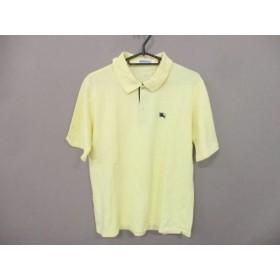 【中古】 バーバリーズ Burberry's 半袖ポロシャツ サイズL メンズ 美品 イエロー
