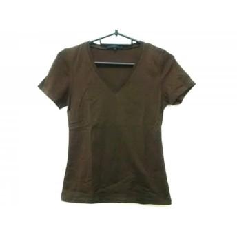 【中古】 アナイ ANAYI 半袖Tシャツ サイズ38 M レディース ダークブラウン