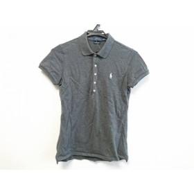 【中古】 ポロラルフローレン POLObyRalphLauren 半袖ポロシャツ サイズM レディース 美品 グレー