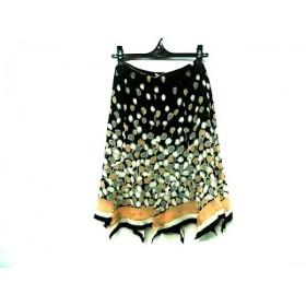 【中古】 ルーニィ LOUNIE スカート サイズ36 S レディース ブラック マルチ