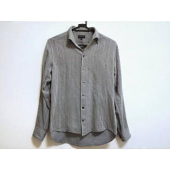 【中古】 ジョセフオム JOSEPH HOMME 長袖シャツ サイズ46 XL メンズ ネイビー ライトグレー