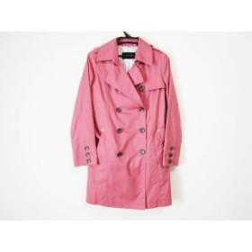 【中古】 メイソングレイ MAYSON GREY トレンチコート サイズ1 S レディース 美品 ピンク