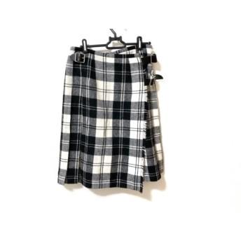【中古】 オニール O'NEIL 巻きスカート サイズ42(I) M レディース 美品 アイボリー 黒